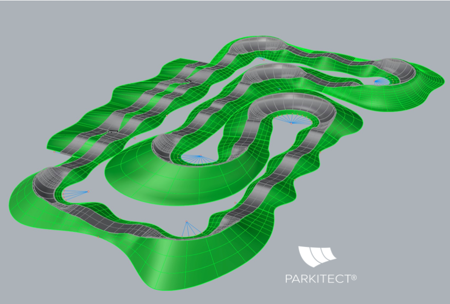 Architectural drawing of a PARKITECT modular pumptrack.