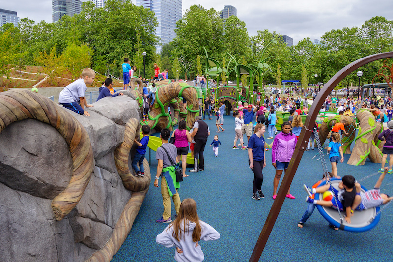 Inspiration Playground in Bellevue, Washington, US is universally accessible.