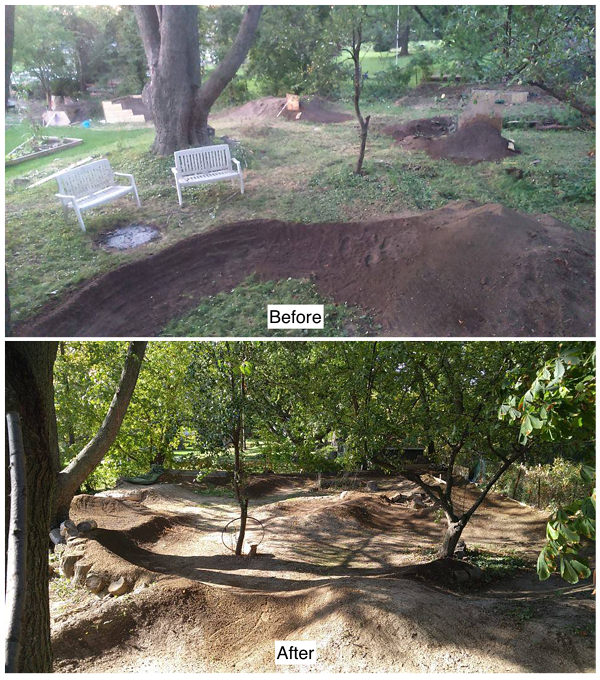 Finished! The pumptrack is complete! Chris Garbett