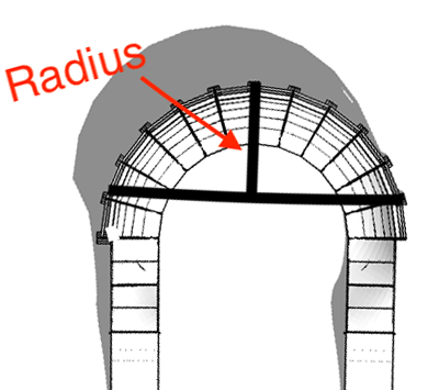 PARKITECT image showing the radius of a berm