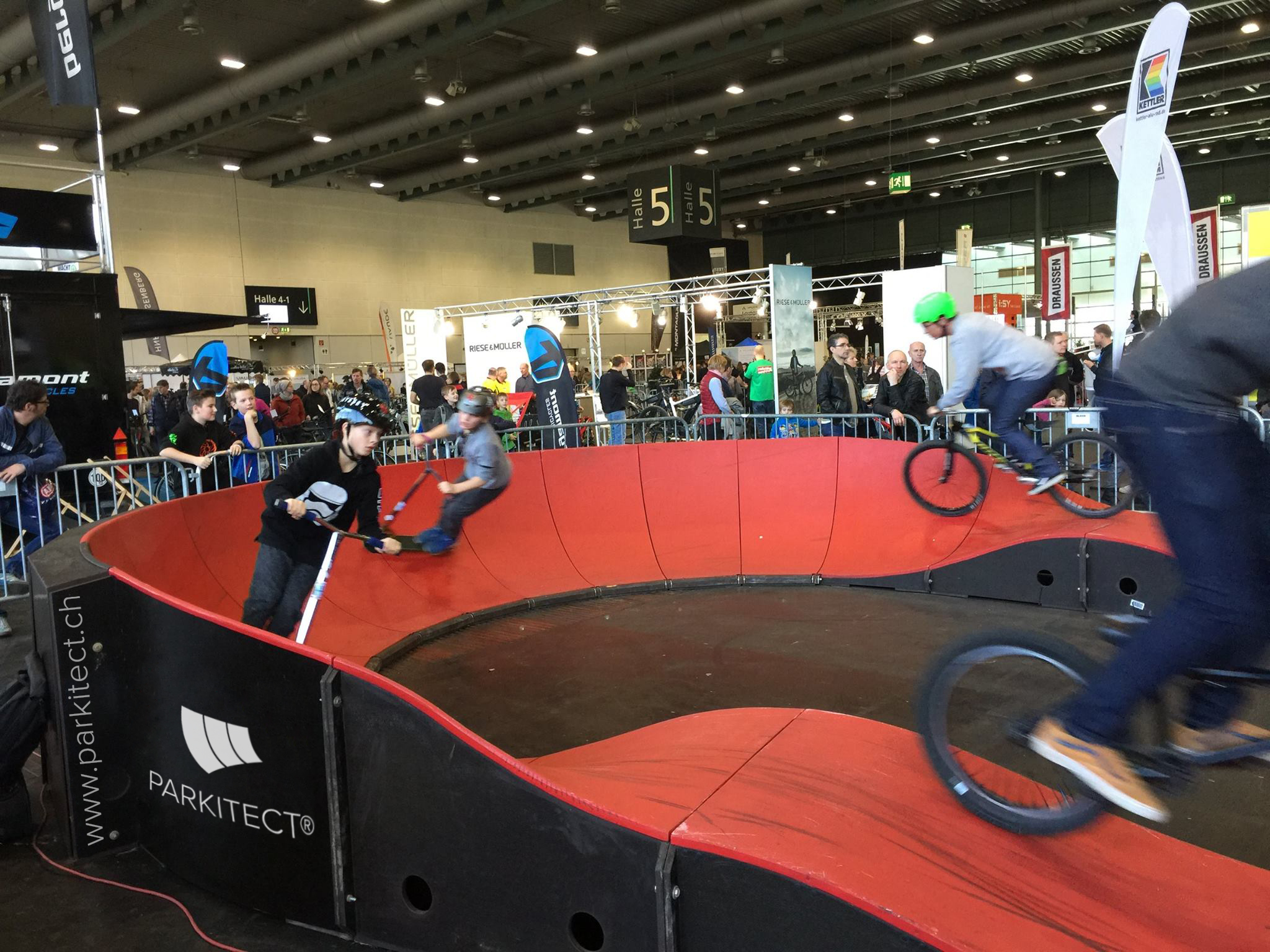 PARKITECT modular pumptrack made of composite material featured at an outdoor show in Bremen, Germany.-1