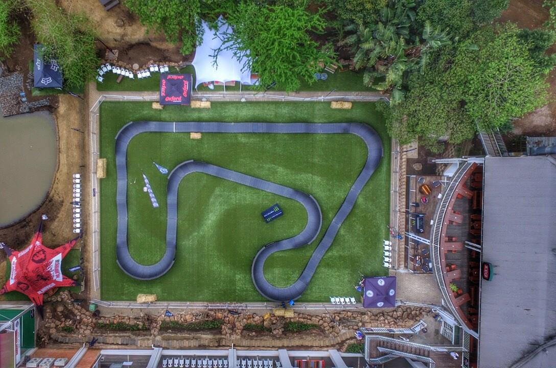 Aerial view of a PARKITECT modular pumptrack.