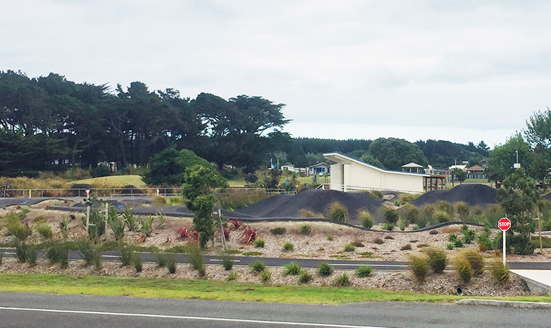 The pumptrack in the town of Foxton, New Zealand is widely embraced by the surrounding community and is beautifully integrated into the surrounding landscape.