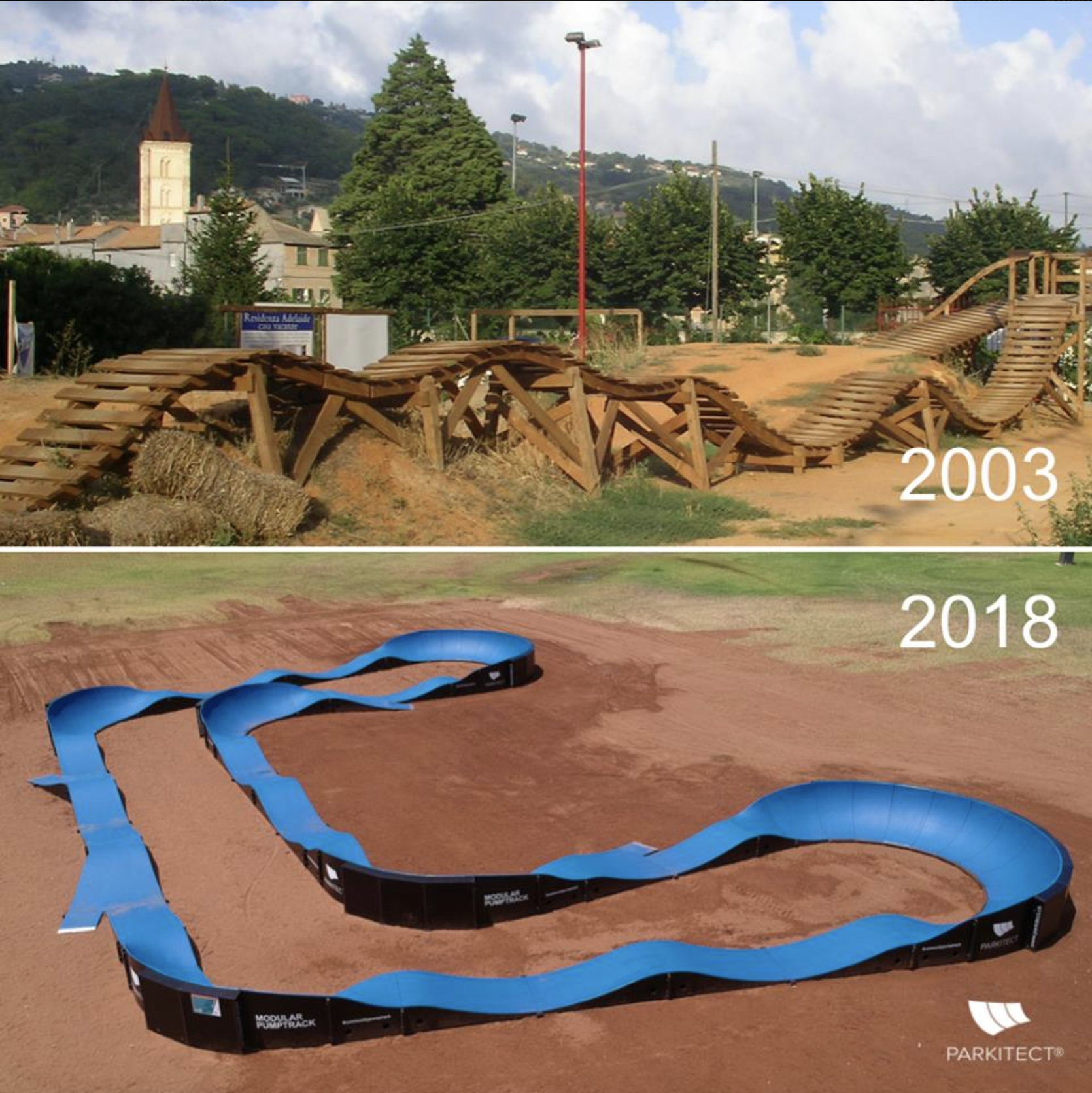 PARKITECT pumptracks then and now